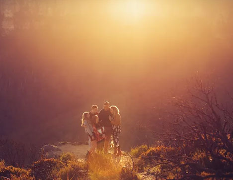 A Family Photography Session with the perfect Blue Mountains' Sunset